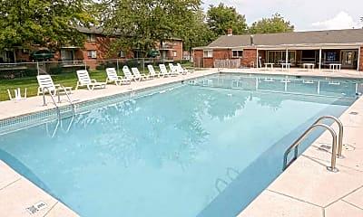 Pool, Garden Village Apartments, 1