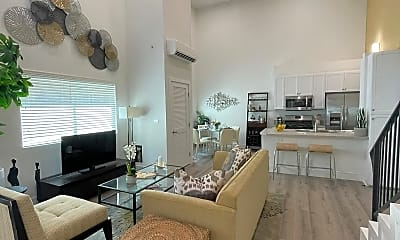 Living Room, BRAND NEW EVERYTHING! HEART OF KOREATOWN! * WASHER & DRYER in unit!, 2