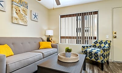 Living Room, Hardy Avenue Apartments, 1