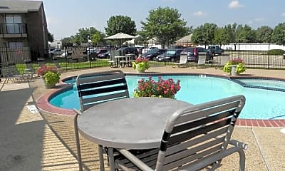 Pool, South Meadows Apartments, 0