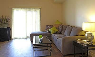 Living Room, Hawthorne Gardens Apartments, 1