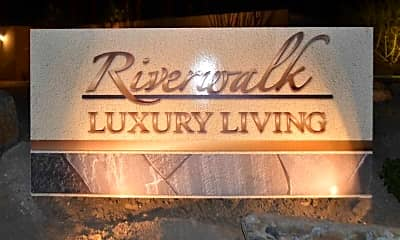 Community Signage, Riverwalk Luxury Living, 1