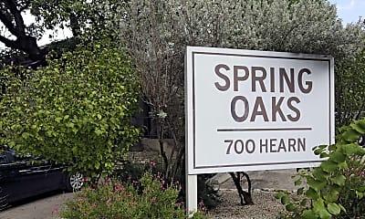 Community Signage, Spring Oaks Apartments, 0