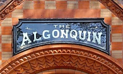 Community Signage, The Algonquin, 2