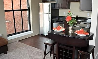 Kitchen, Democrat Lofts, 1