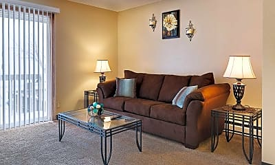 Living Room, Bison Apartments, 1