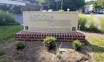 Arcola Towers, 1