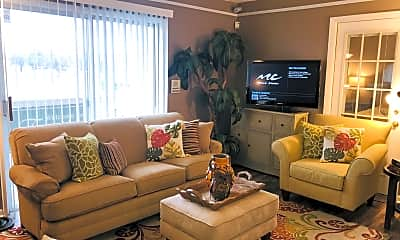 Living Room, Frontier Apartments, 1