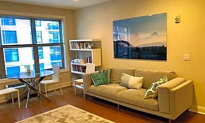 Living Room, 100 Marshall St 211, 1