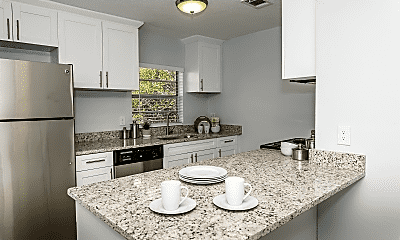Kitchen, Seaside Apartments, 1