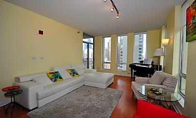 Living Room, 1250 S Michigan Ave 1701, 1