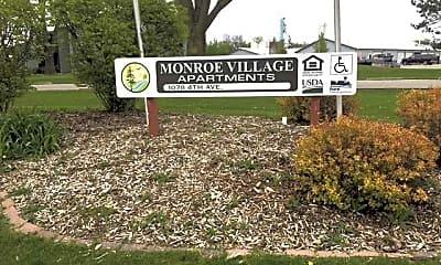 Community Signage, Monroe Village Apartments, 2