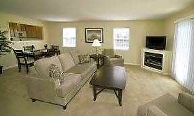 Living Room, Village at Blue Hen Apartments, 2