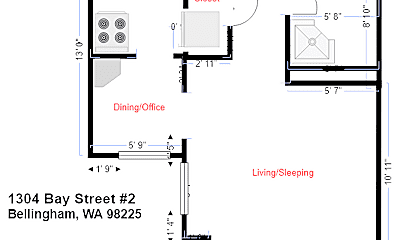 Bedroom, 1304 Bay St, 2