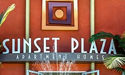 Community Signage, Sunset Plaza Apartments, 2