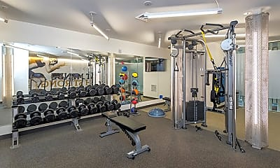 Fitness Weight Room, The Edison at Union Market, 2