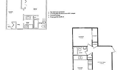 Bedroom, 323 S Grant St, 2