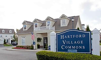 Community Signage, Hartford Village Commons Apartments, 0
