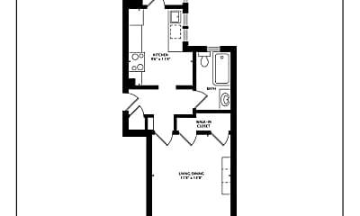 Bedroom, 1516 Larkin St, 2