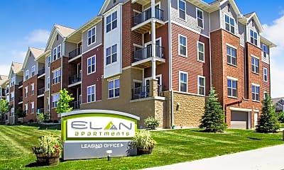Community Signage, Elan Apartments, 0