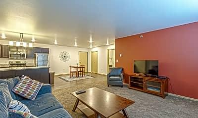 Living Room, Boulevard Square Apartments, 1