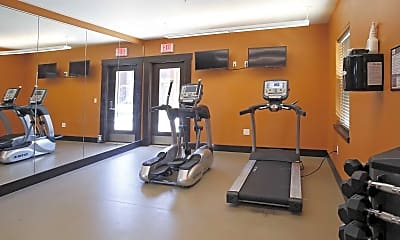 Fitness Weight Room, 1st Street Apartments, 1