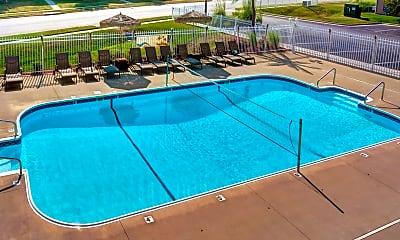 Pool, Palm Village Apartments, 1