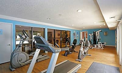 Fitness Weight Room, The Grove Apartments, 2