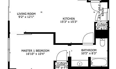 Bedroom, 1075 Market St, 2