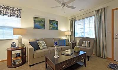 Living Room, Northtowne Apartments, 1