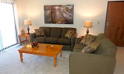 Living Room, Colonial Village Apartments, 0
