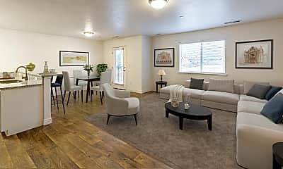 Living Room, Ridgeview Apartments, 1