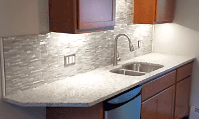 Kitchen, Top of the Hill Apartments, 2