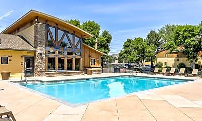 Pool, Copper Flats Apartments, 0