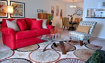 Living Room, Silver Creek Apartments, 0