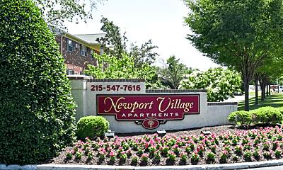 Community Signage, Newport Village Apartments, 0