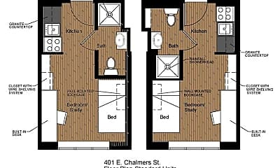Bathroom, 401 E Chalmers St, 2