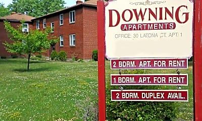 Community Signage, Downing Apartments, 2