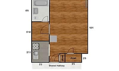 Bedroom, 4066 Lindell Blvd, 1
