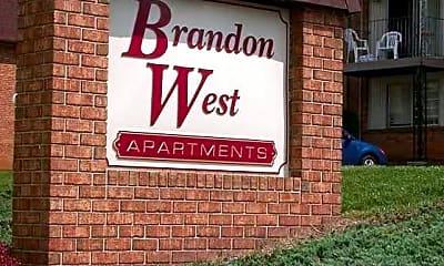 Community Signage, Brandon West Apartments, 1