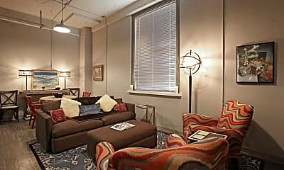 Living Room, The Clemons Lofts, 1