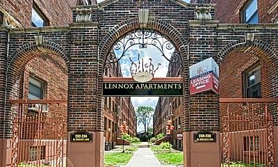 Community Signage, Lennox Apartments, 1