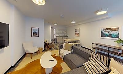 Living Room, 63 W 130th St, 1