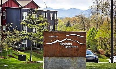 Community Signage, Skylofts Apartments, 0