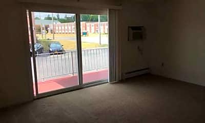 Living Room, Queens Court Apartments, 1