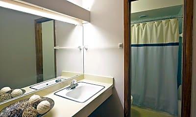 Bathroom, Woodland Court Apartments, 2