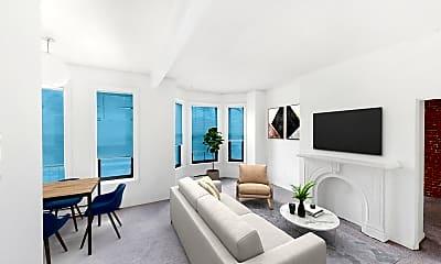 Living Room, 23 Cortes Street, Unit 5, 0