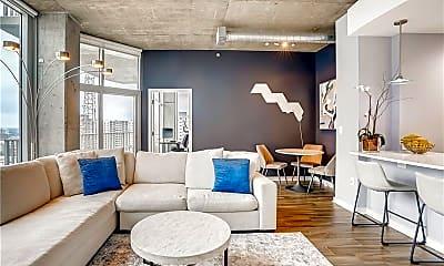 Living Room, 923 Peachtree St NE 1731, 1