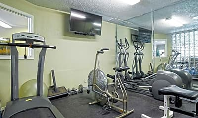 Fitness Weight Room, Lincoln Park, 2