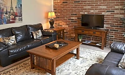 Living Room, Red Lion Apartments, 1